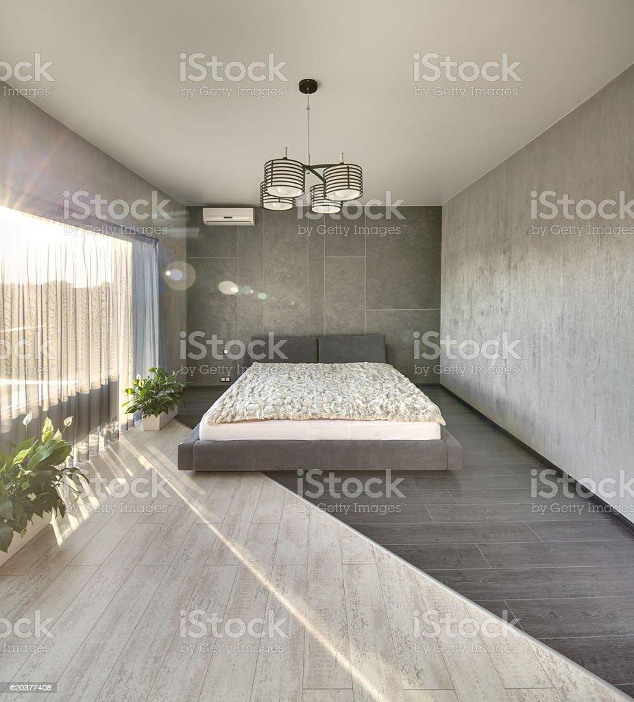 Sypialnię w nowoczesnym stylu zbiór zdjęć royalty-free