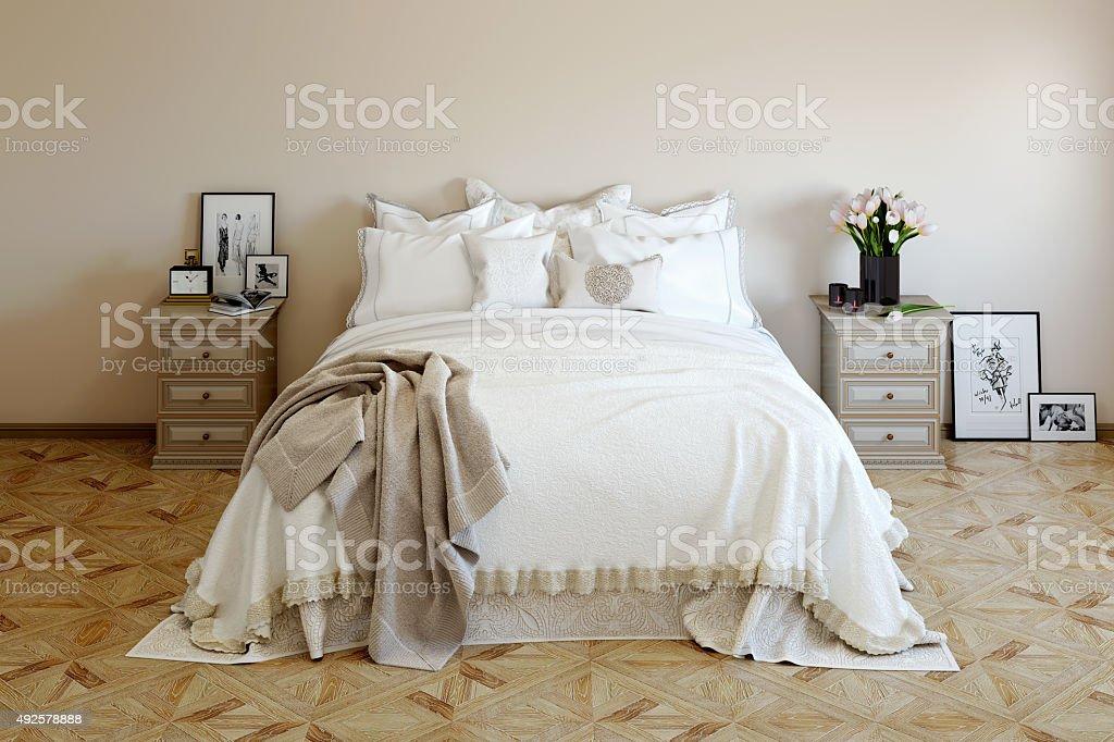 Schlafzimmer In Sanften Farben Und Stockfoto und mehr Bilder ...
