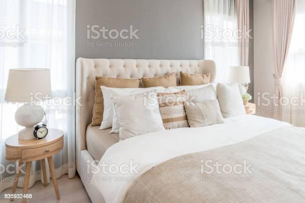 Bedroom in soft light colors big comfortable double bed in elegant picture id835932468?b=1&k=6&m=835932468&s=612x612&h=nq  x8bqbe8eumdweeb3kytse3o5wy wuhdljav1dxw=