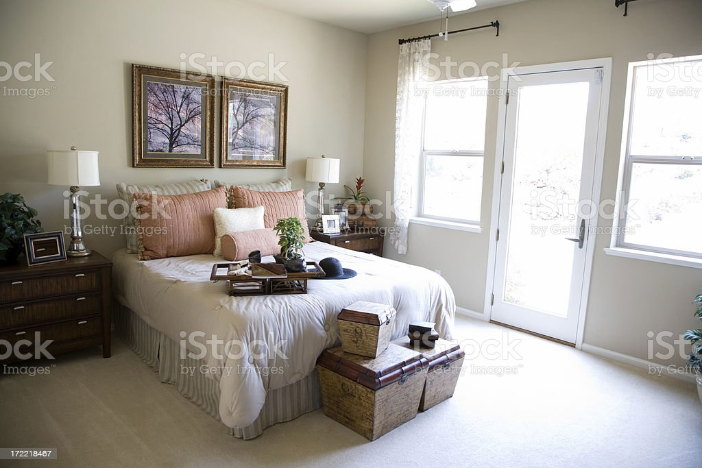Bedroom In The Morning royalty-free stock photo