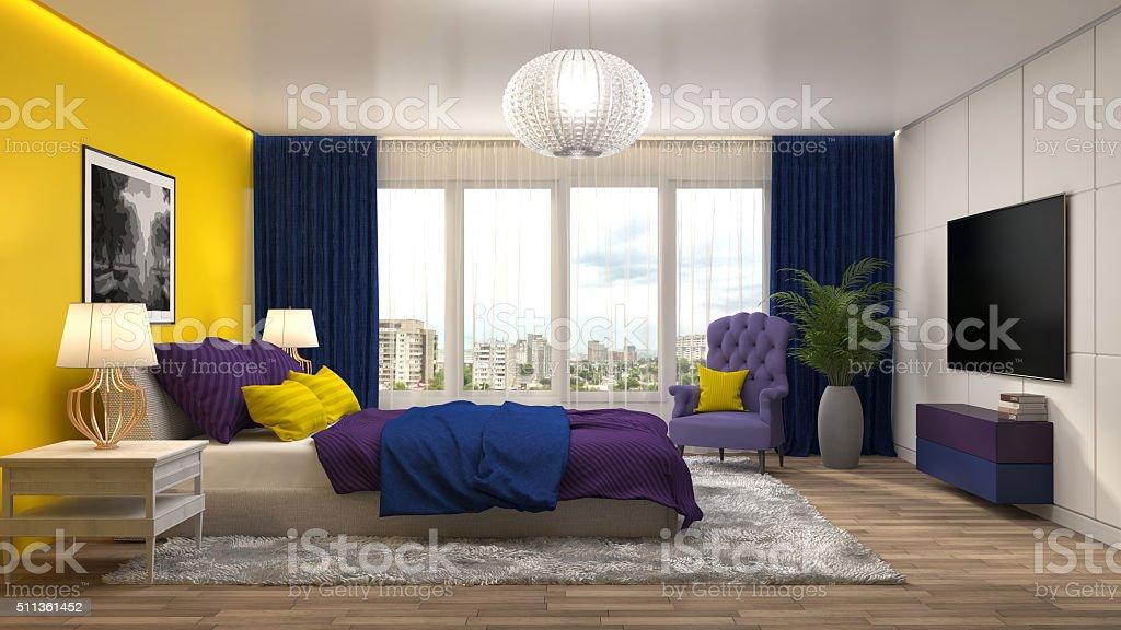 Schlafzimmer Einrichtung 3 D Illustration Stockfoto und mehr ...