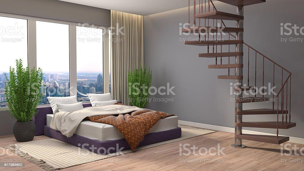 schlafzimmer einrichten d, schlafzimmer einrichtung 3 d illustration stock-fotografie und mehr, Design ideen