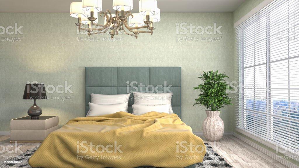 Bedroom interior. 3d illustration photo libre de droits