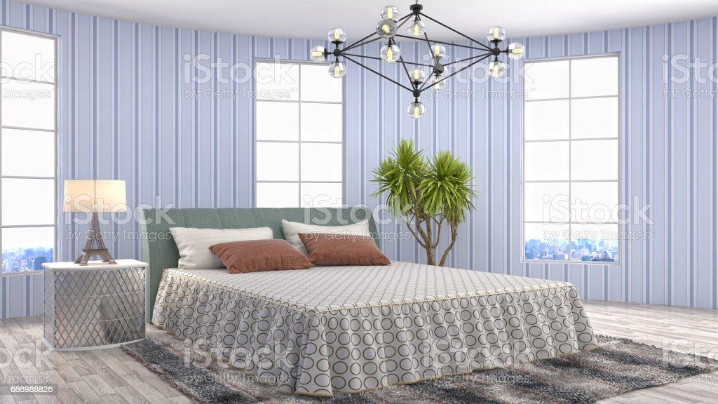 Bedroom interior. 3d illustration Lizenzfreies stock-foto