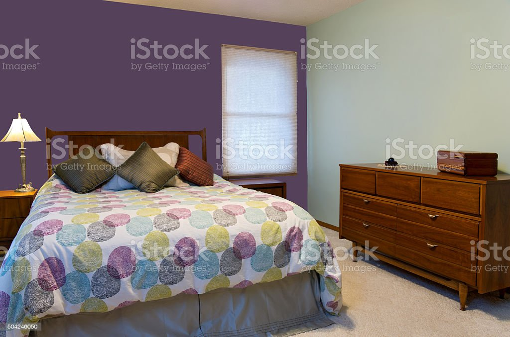 Bedroom Interior and Furnishings stock photo