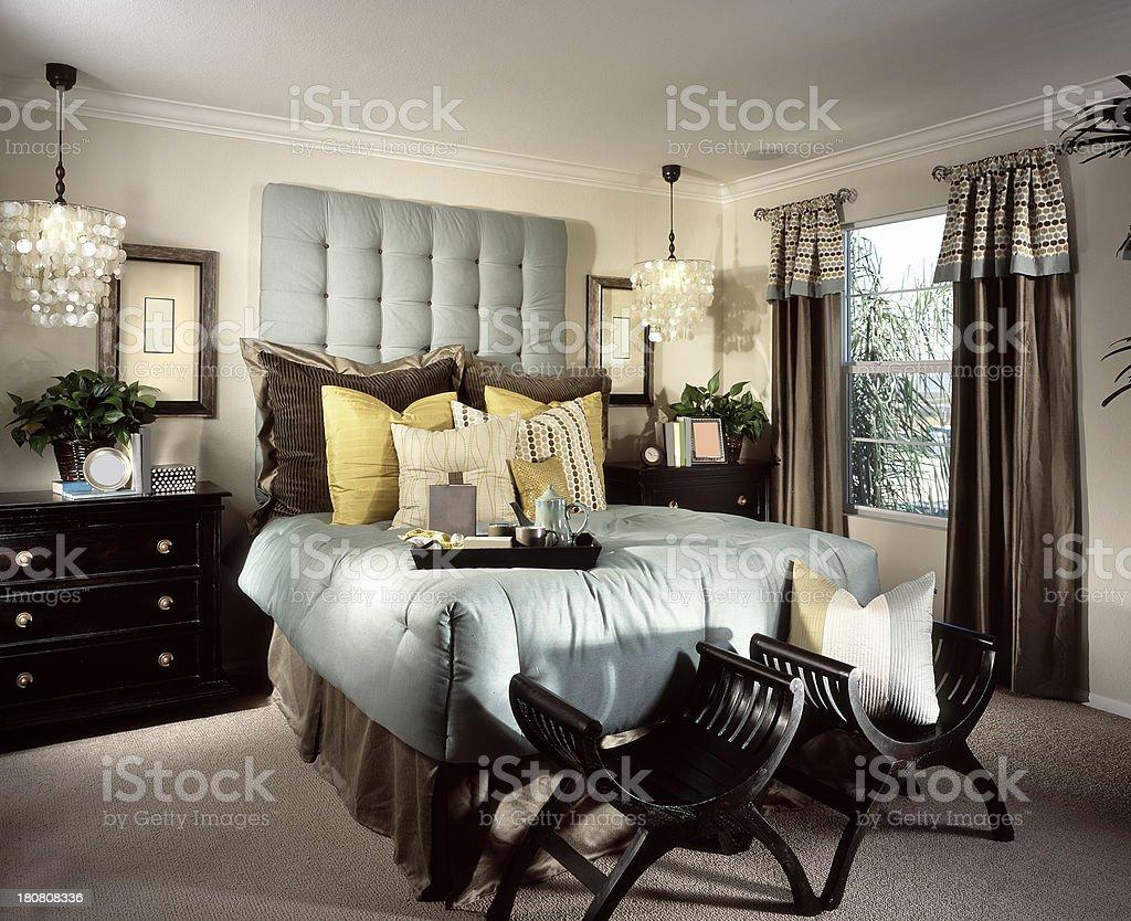 Bedroom Interior Design Home royalty-free stock photo