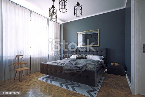 istock bedroom interior design. 1130429250