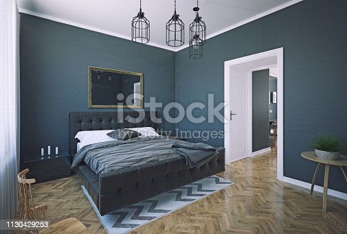 istock bedroom interior design. 1130429253