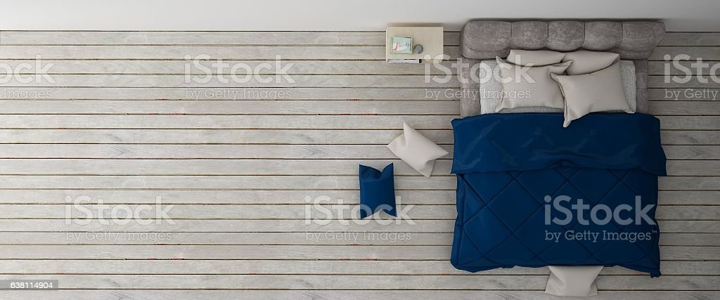 Bedroom interior mock up background stock photo