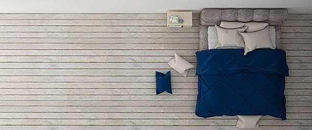 Bedroom interior mock up background stock photo