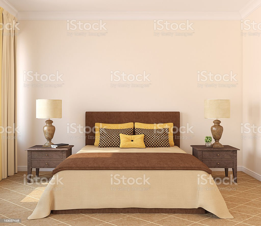 Bedroom interior. royalty-free stock photo