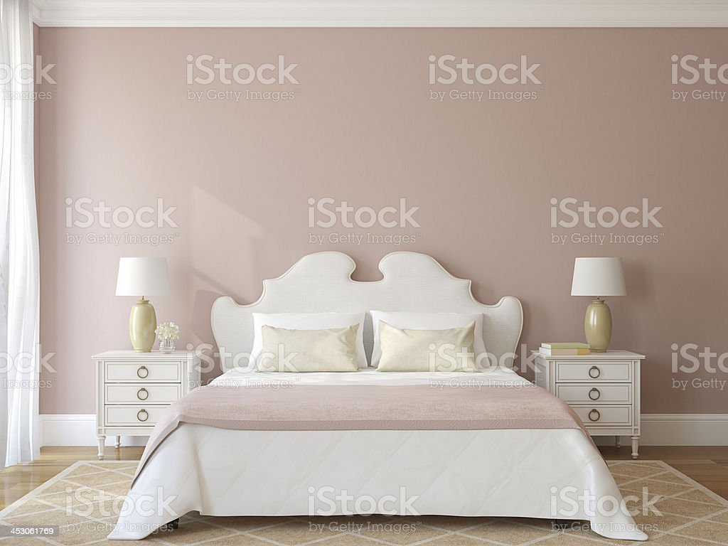 Bedroom interior. stock photo
