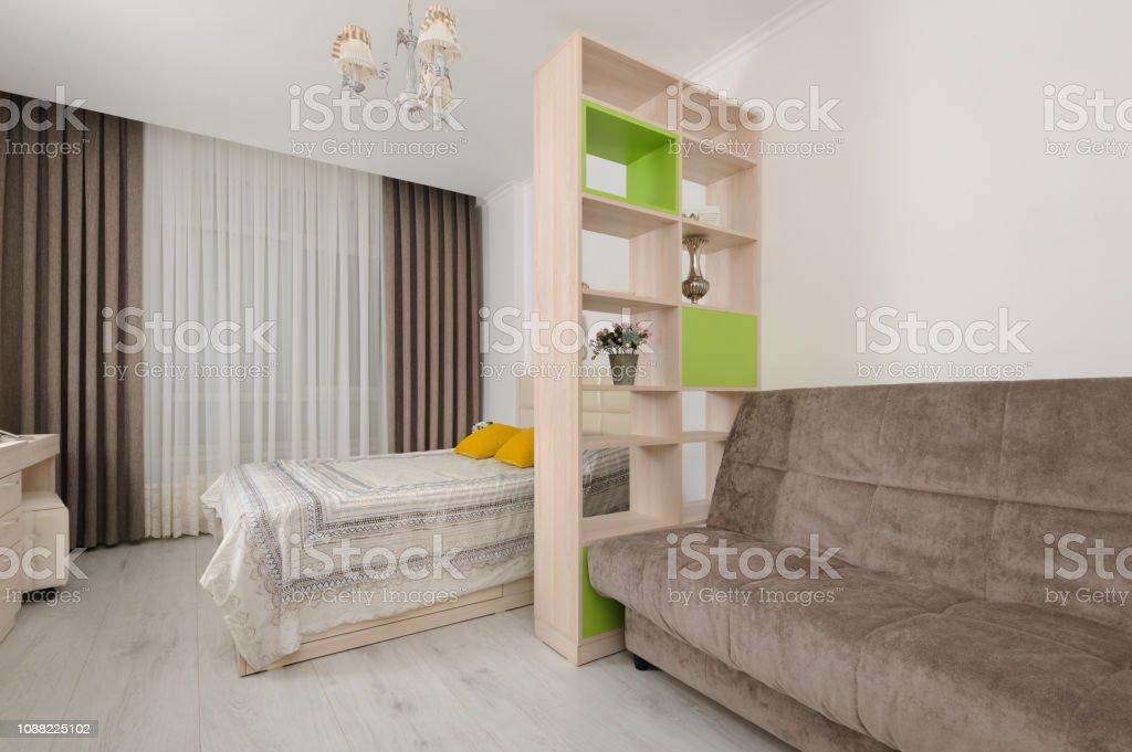 Bedroom Interior With Bookshelf Stock Photo Download Image Now Istock