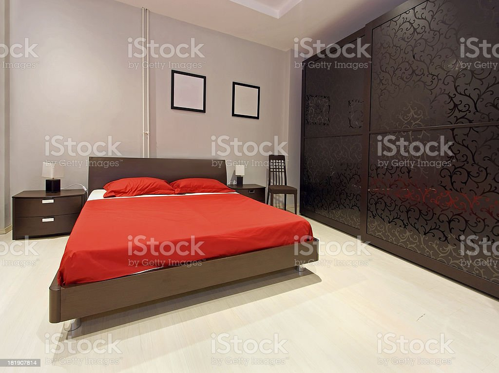 Bedroom large royalty-free stock photo