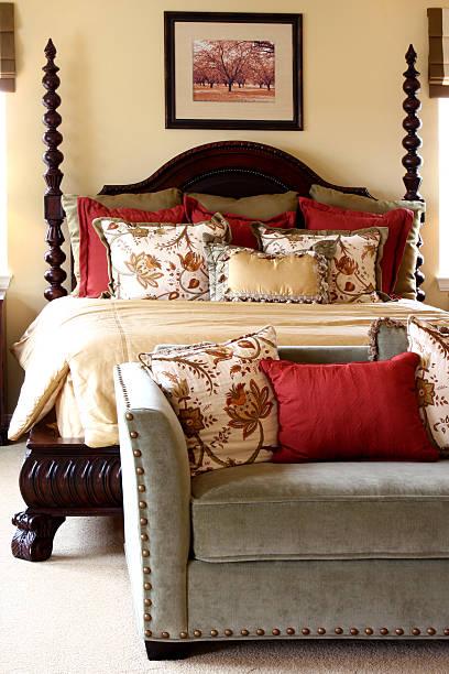 schlafzimmer luxus - do it yourself hochbett stock-fotos und bilder