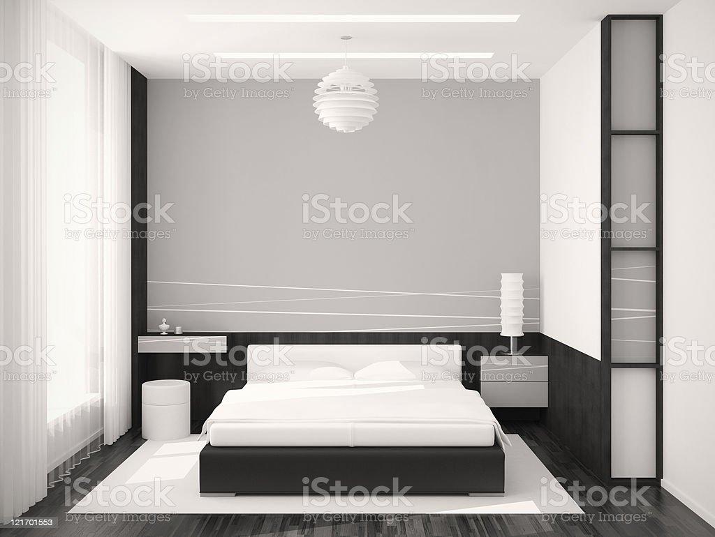 Bedroom monochrome royalty-free stock photo