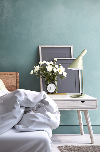 Bedroom Night Table Stock Photo - Download Image Now