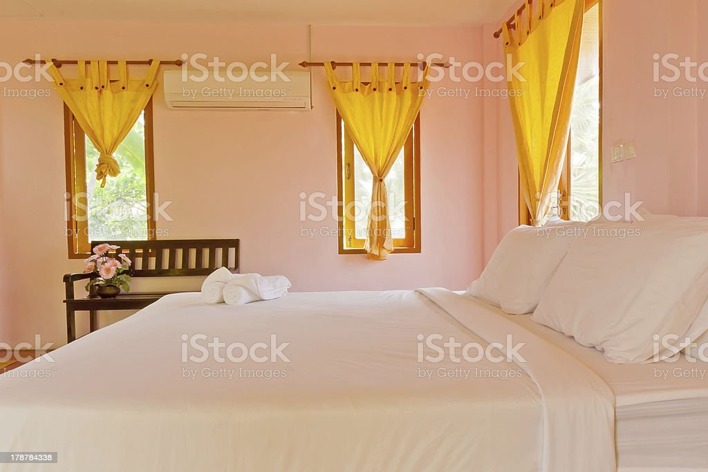 Bedroom on holiday royalty-free stock photo