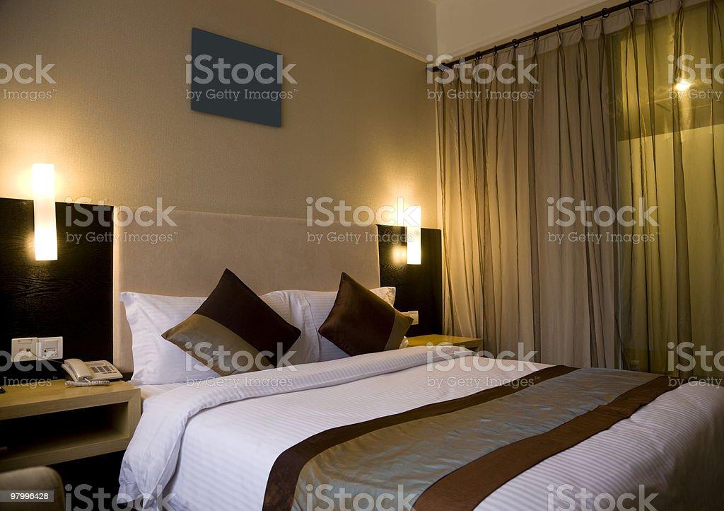 bedroom royalty free stockfoto