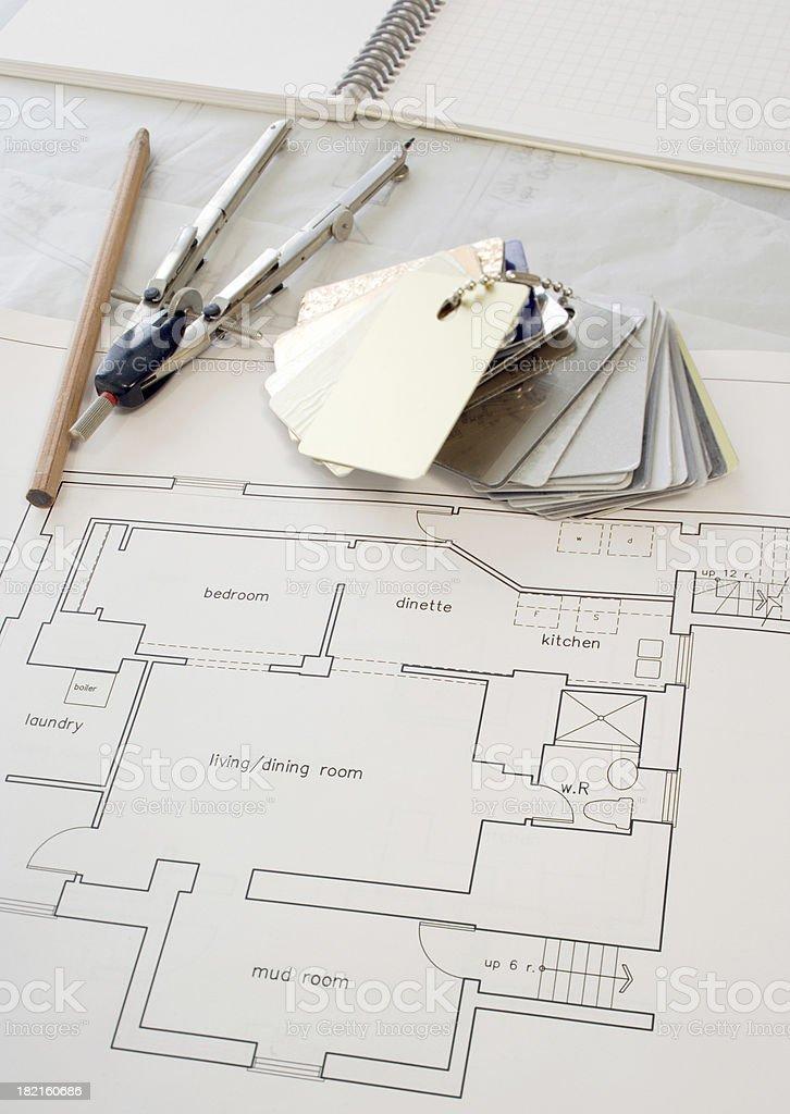 bedroom plan stock photo