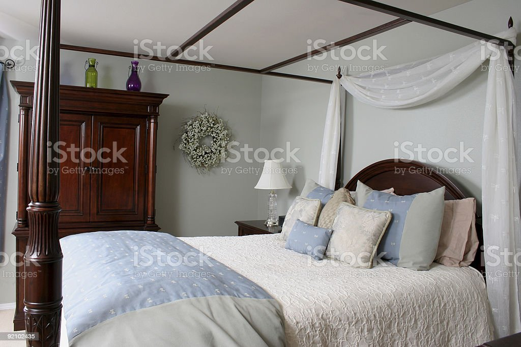 Bedroom Retreat stock photo