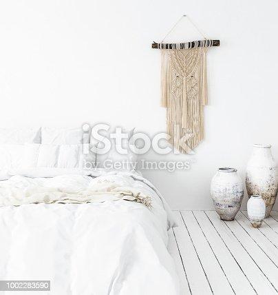 istock Bedroom, Scandi-boho style 1002283590