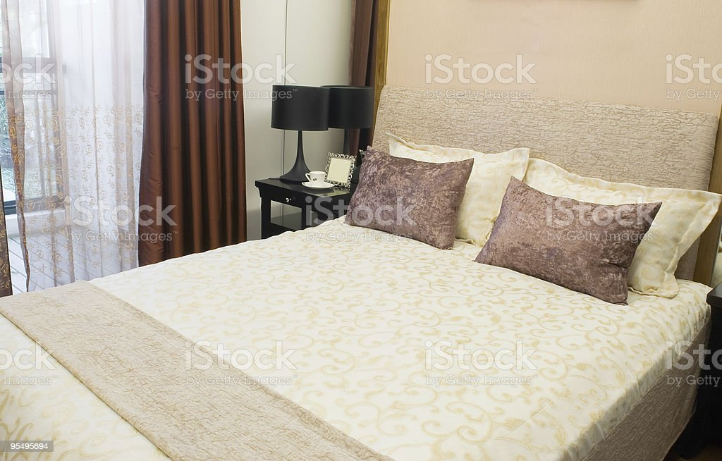 Bedroom setting royalty-free stock photo
