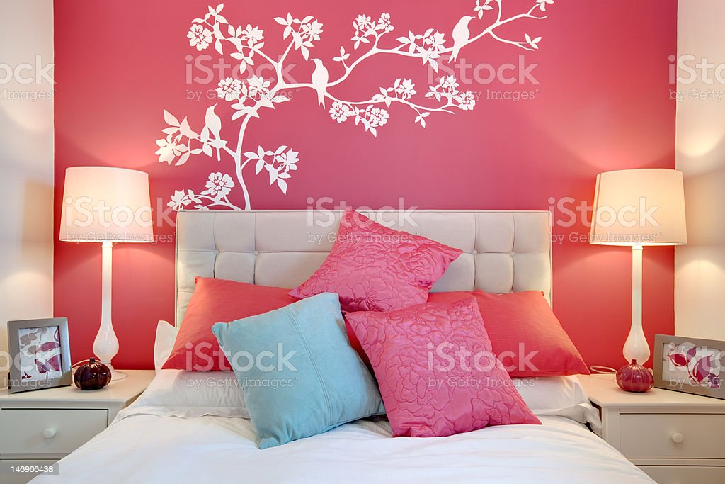 Bedroom style stock photo