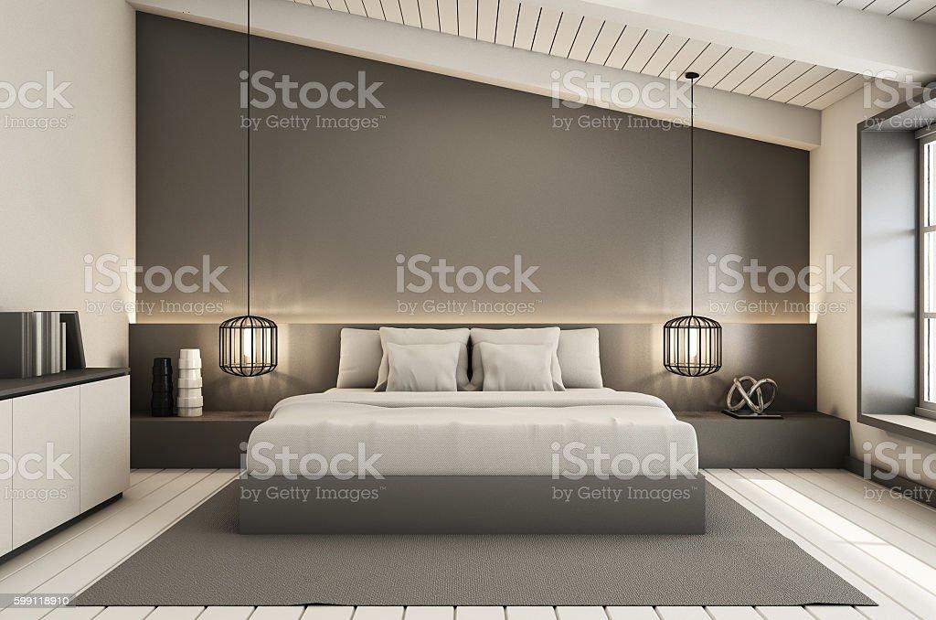Bedroom Under The Roof Interior Design Modern Loft Stock Photo Download Image Now Istock