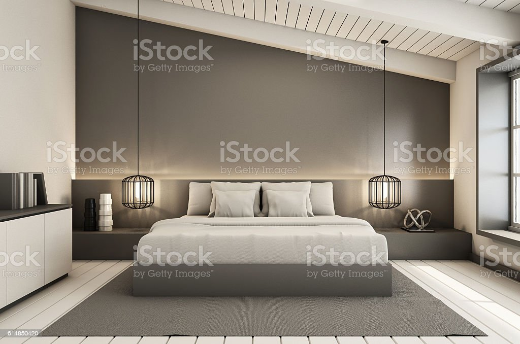 Bedroom Under The Roof Interior Design Modern Loft Stock Photo Download Image Now Istock
