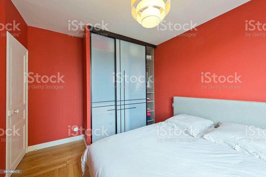 Moderne Schlafzimmer Interior. Lizenzfreies Stock Foto