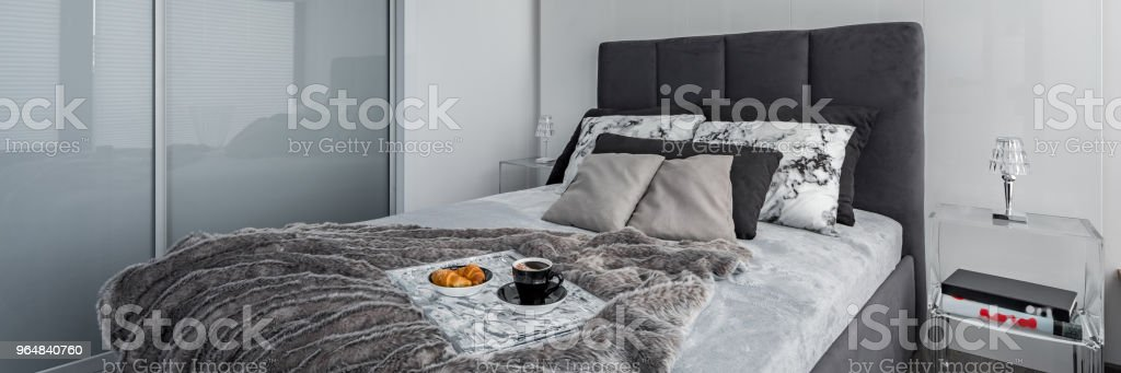 Bedroom with closet royalty-free stock photo