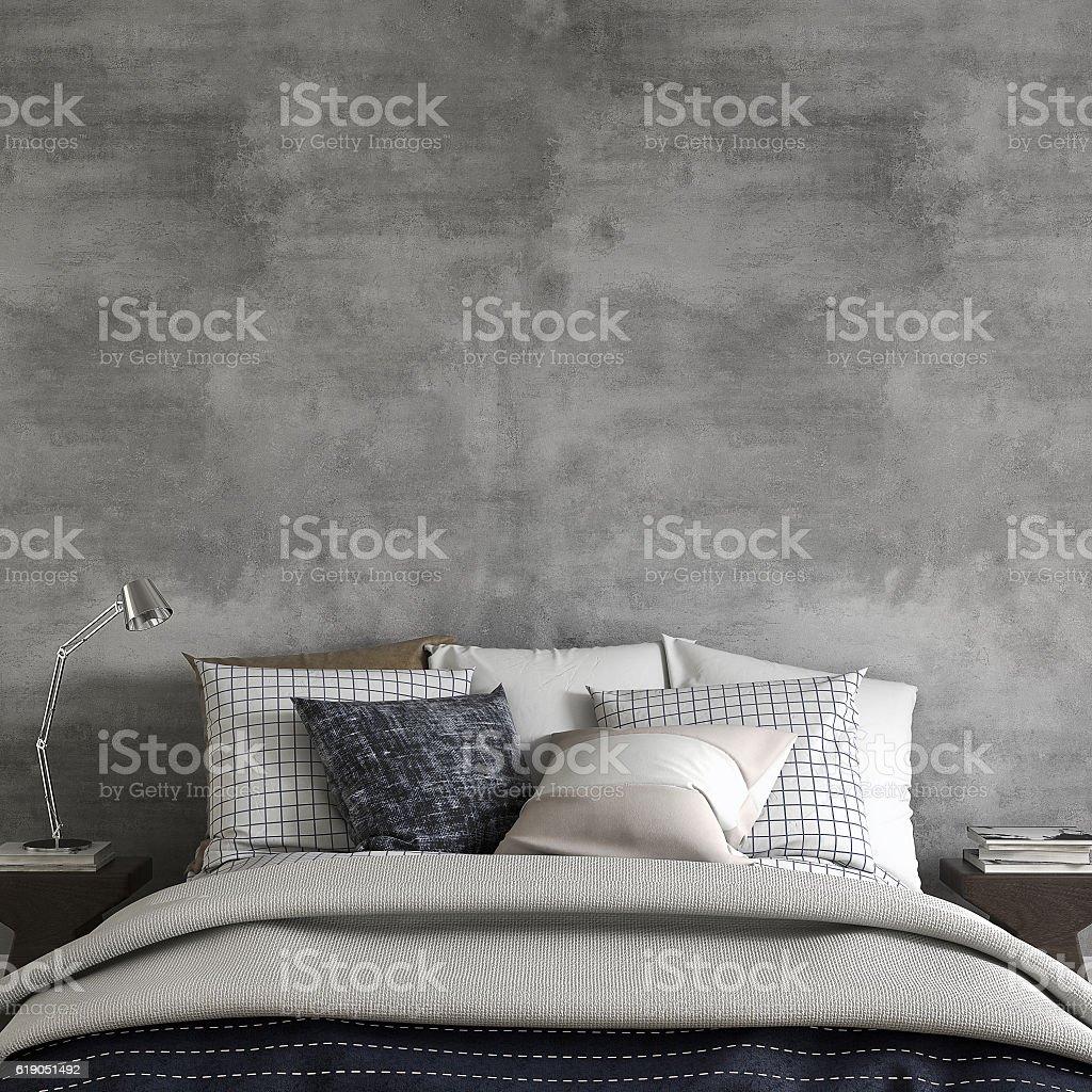 Bedroom with decoration and copy space - Photo de A la mode libre de droits