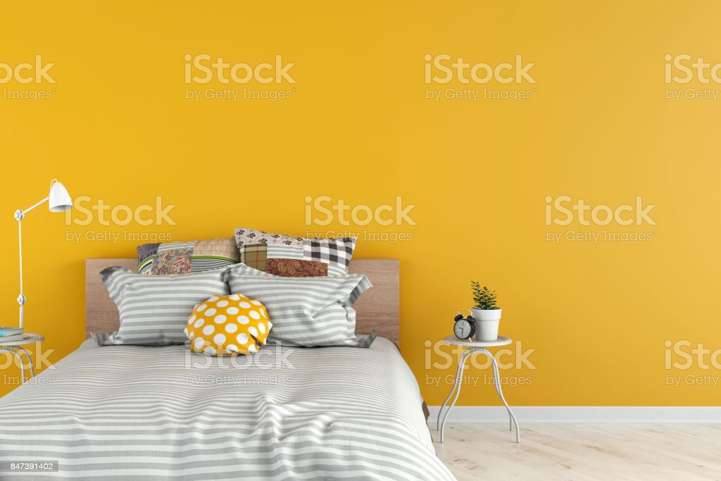Dormitorio con decoración - foto de stock