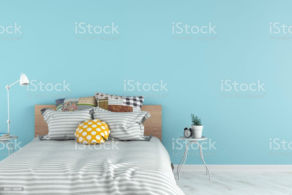 Bedroom with decoration stock photo