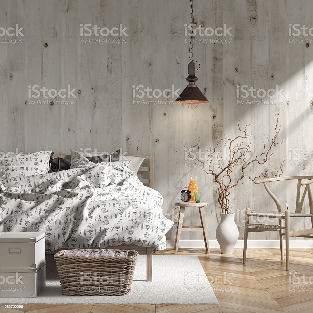 Bedroom with decoration - Stock image stock photo