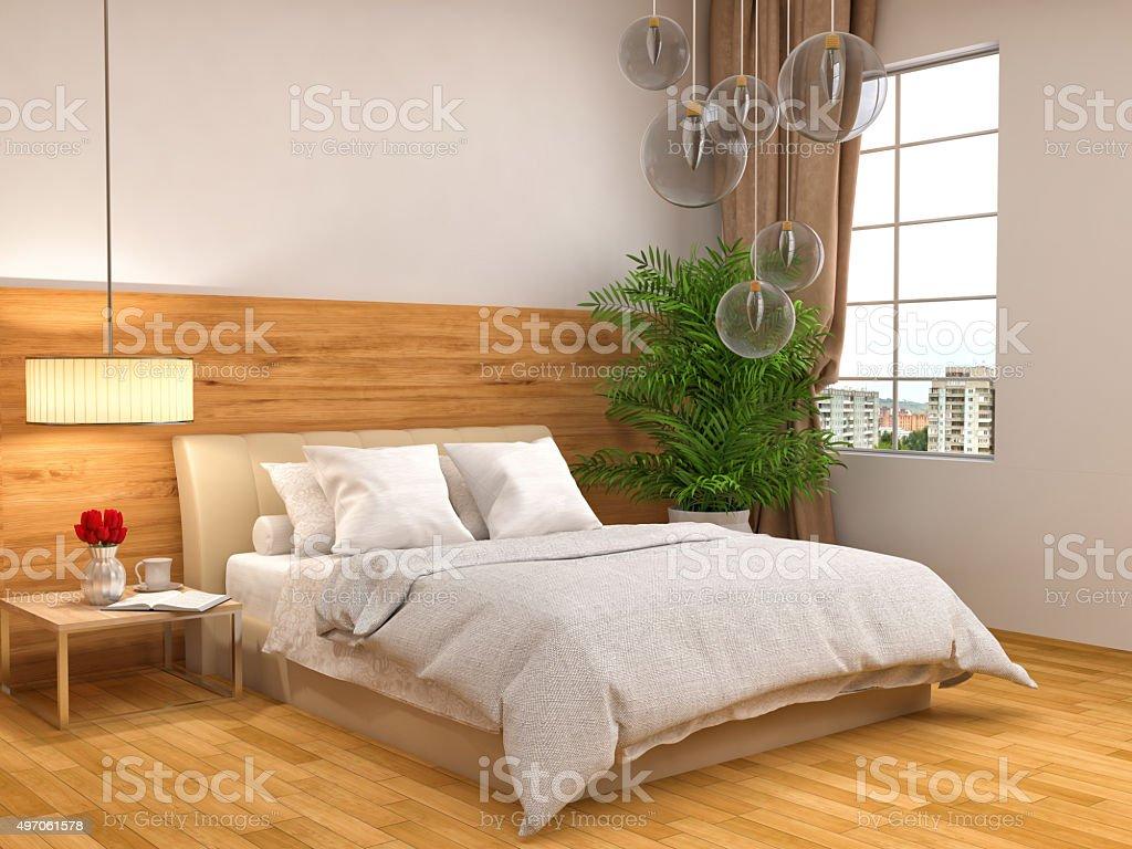 Deco Chambre Lambris Bois photo libre de droit de chambre avec lambris en bois 3 d