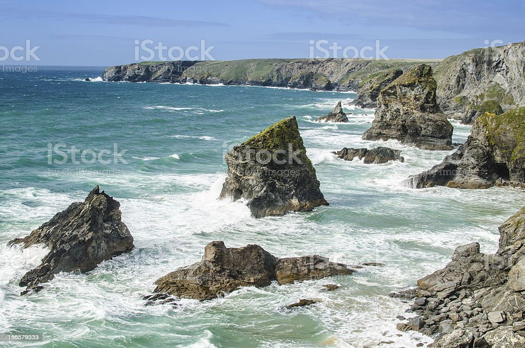 Bedruthan Steps royalty-free stock photo