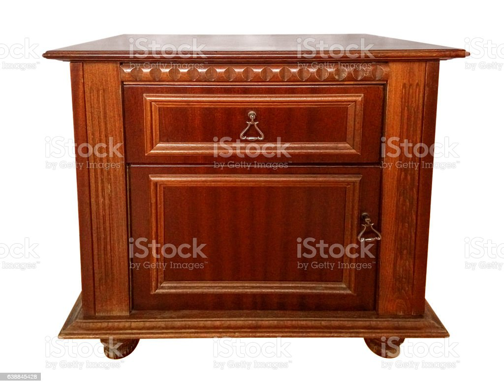 Bedside table isolated stock photo