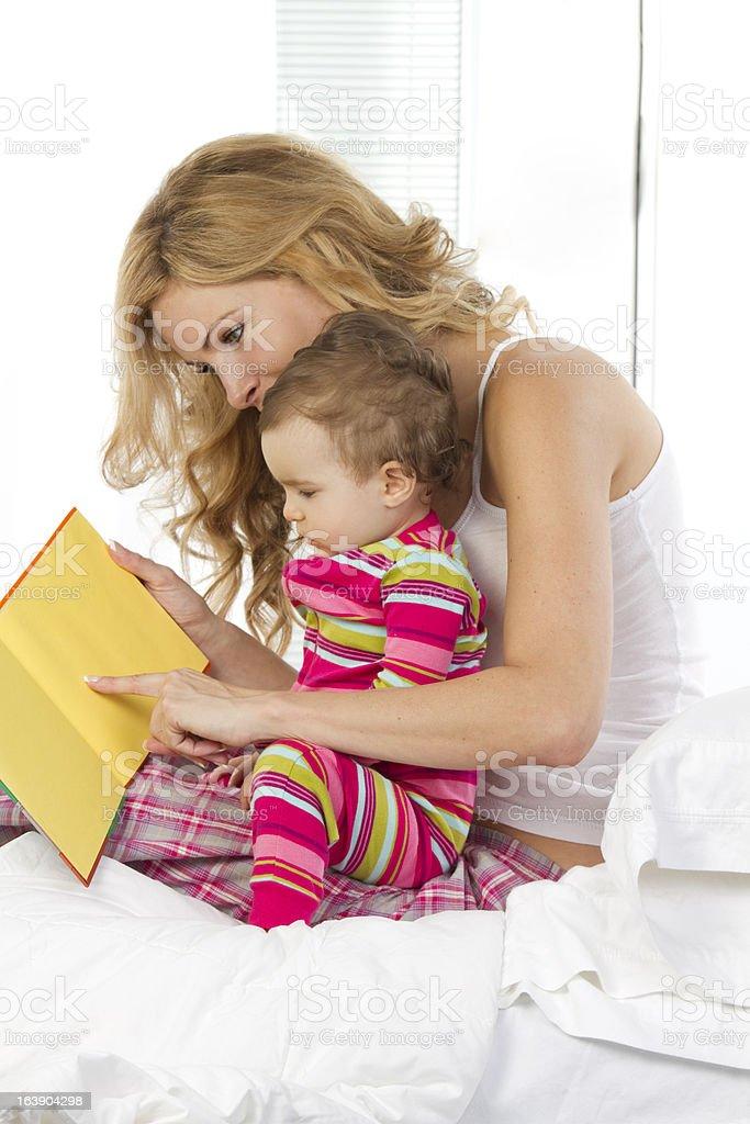 bedtime reading royalty-free stock photo