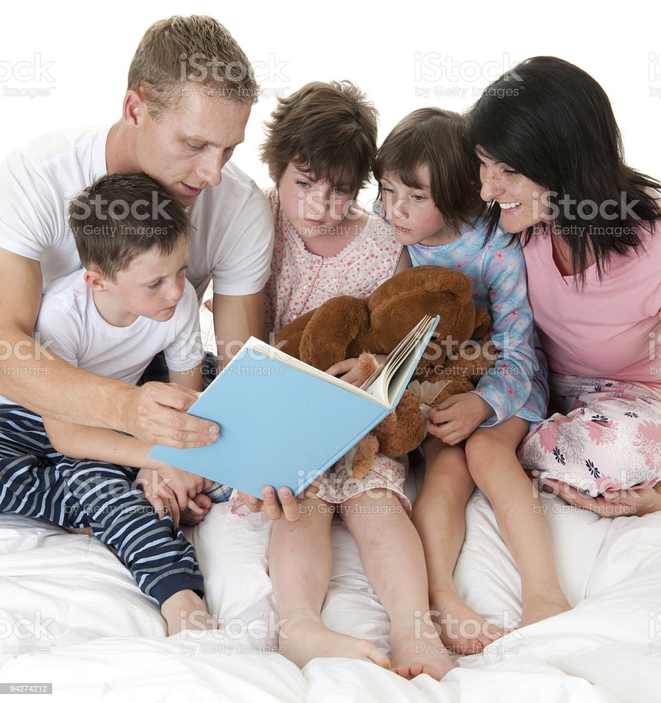 Bedtime stories royalty-free stock photo