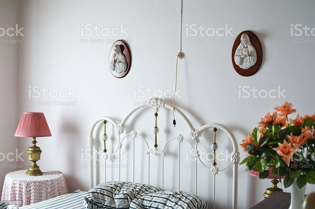 Bed-top detail royalty-free stock photo