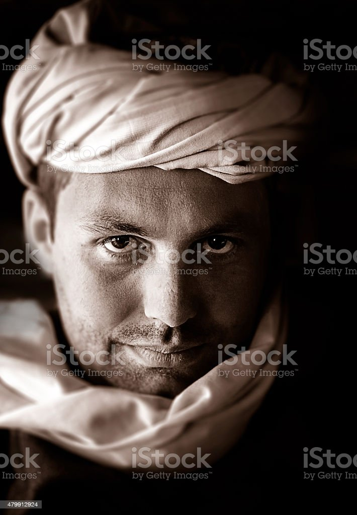 Beduin portrait stock photo