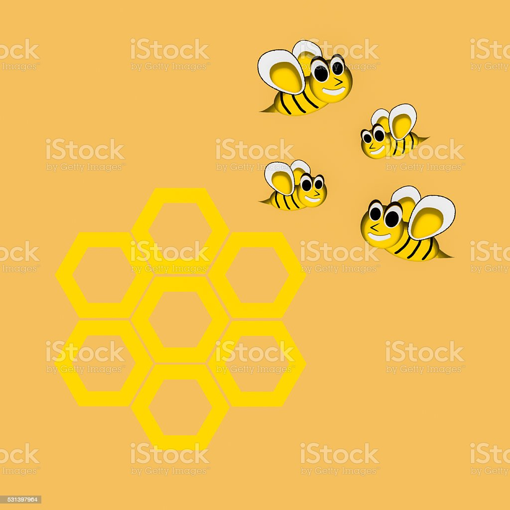 Bee Cartoon Character vector stock photo
