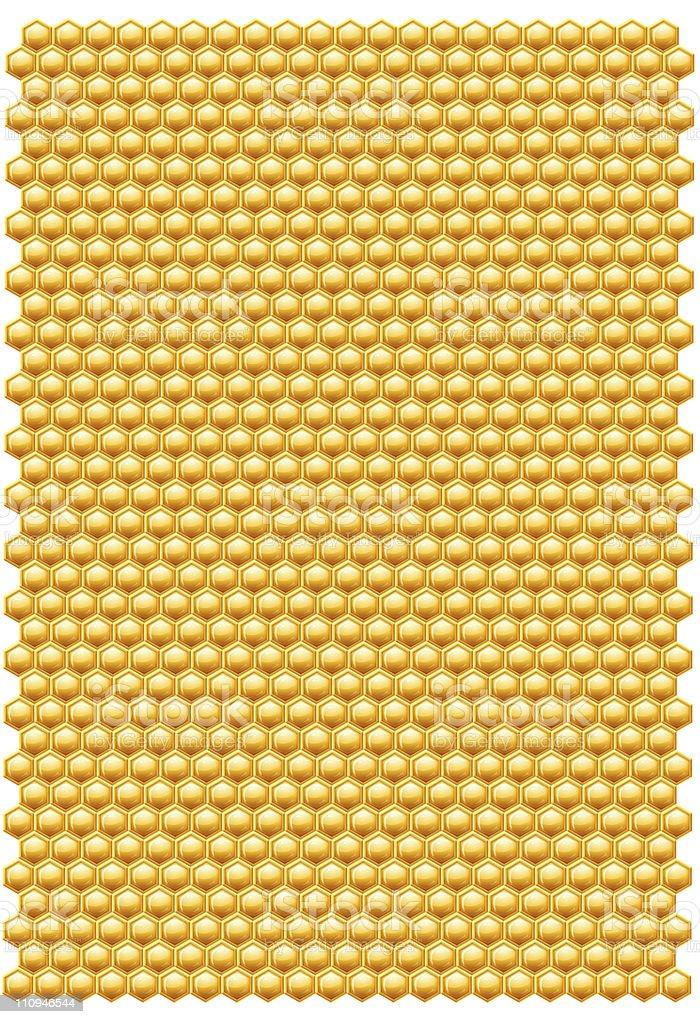 Bee honeycombs pattern royalty-free stock photo