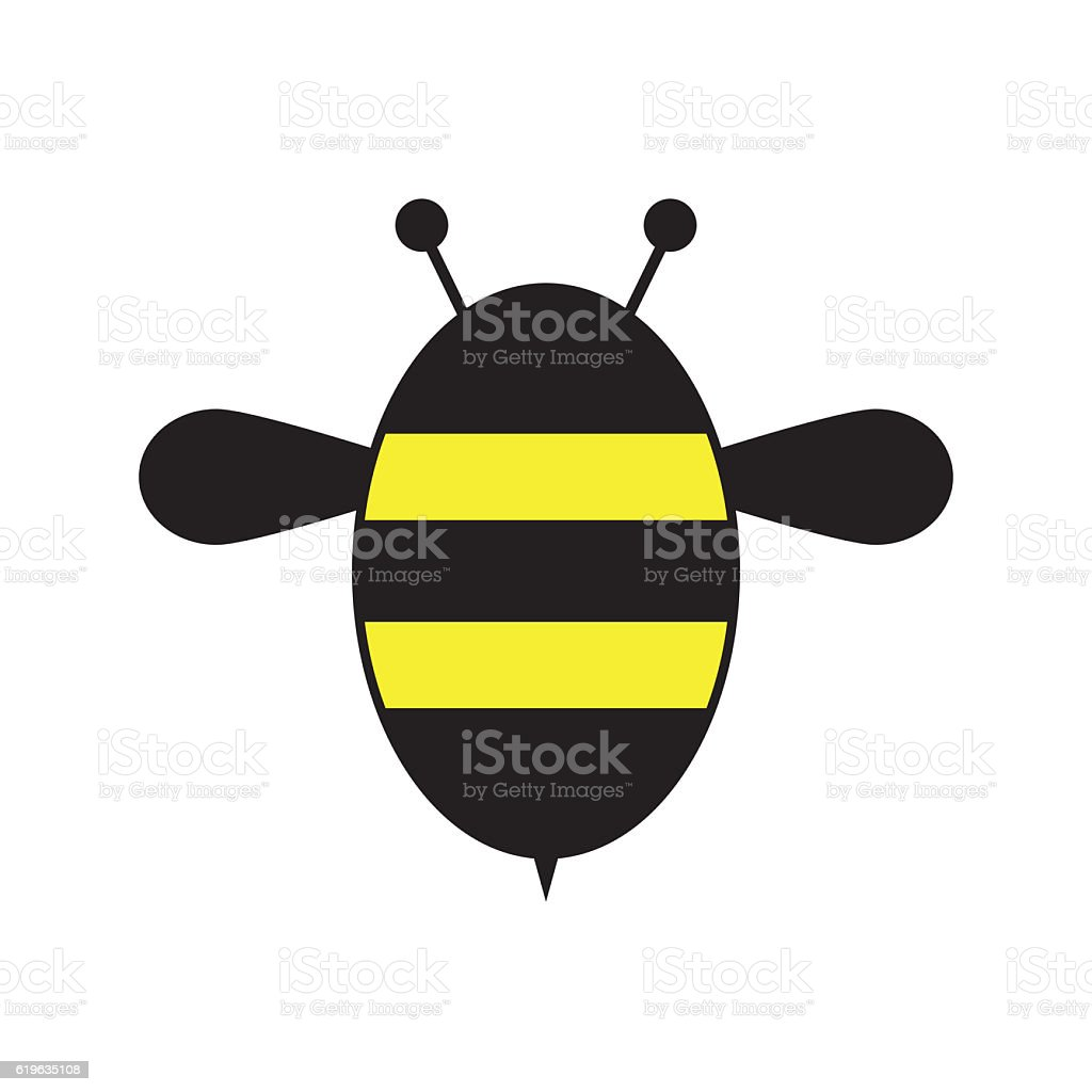 Bee. Icon bee isolated on white background. – Foto