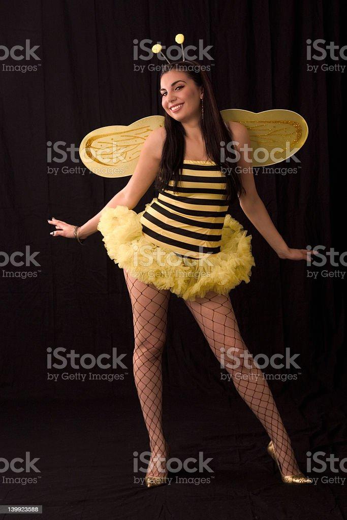 Bee (halloween costum) stock photo