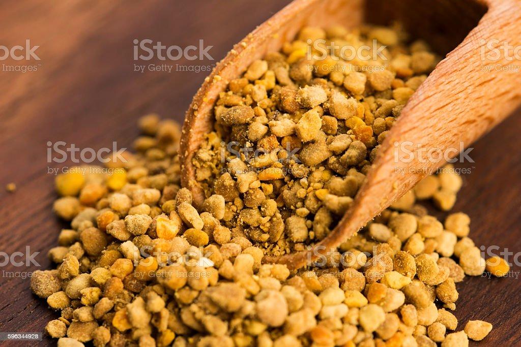 Bee pollen closeup royalty-free stock photo