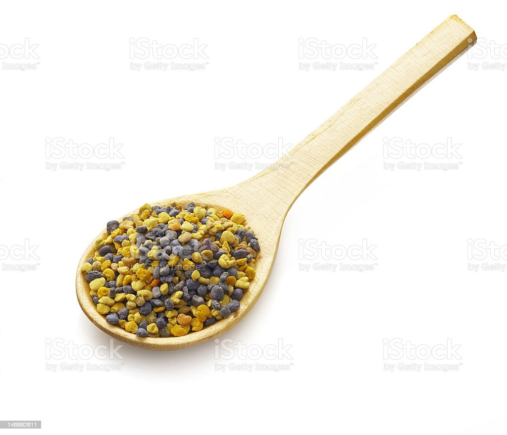 Bee Pollen on a spoon royalty-free stock photo
