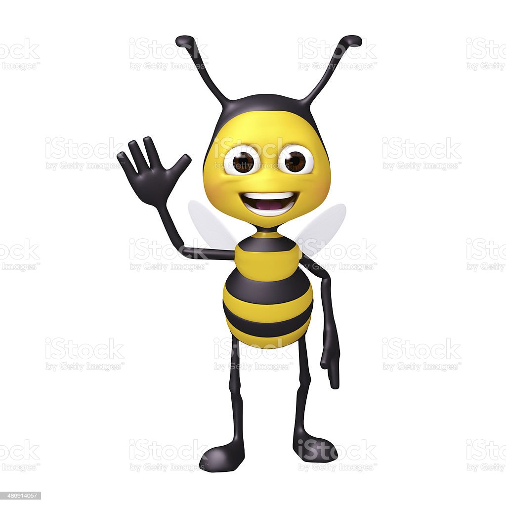 bee welcome pose stock photo